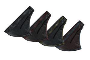 Leather central handbrake boot, black - Grey