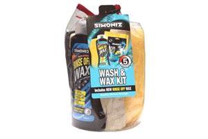 Simoniz Wash & Wax - 5 Piece Kit.  Simoniz's Wash & Wax 5 Piece Kit is the