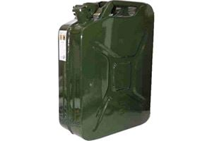 20 Litres Metal Jerry Can - Army Green Colour  The strongest and best can