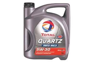Total Quartz INEO MC3 5w30 Fully Synthetic Engine Oil.
