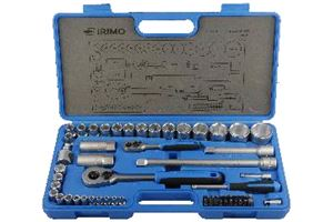 Irimo 58pc 1/4in +1/2in Socket Set